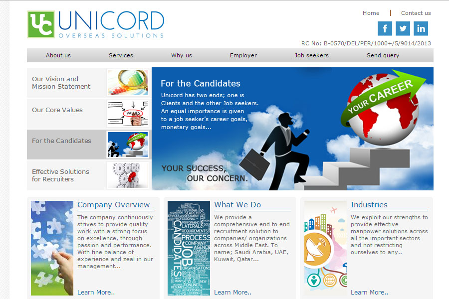 Unicord Overseas Solutions, visa service, recruitment etc